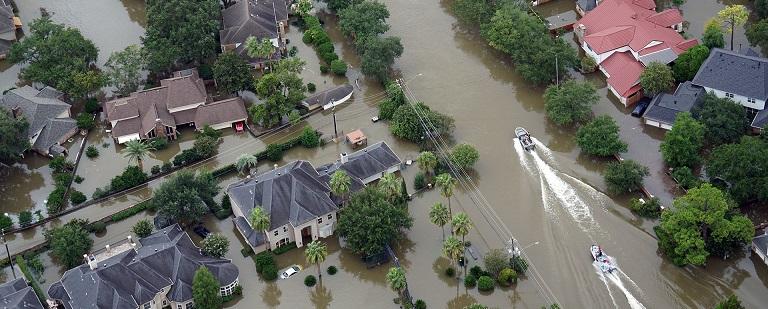 Hurricane Harvey Impacts Ariel view