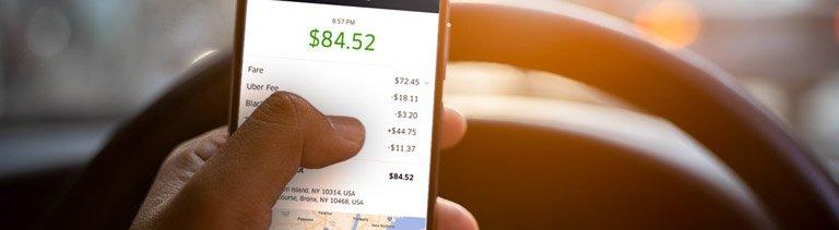 Driver checks uber charges